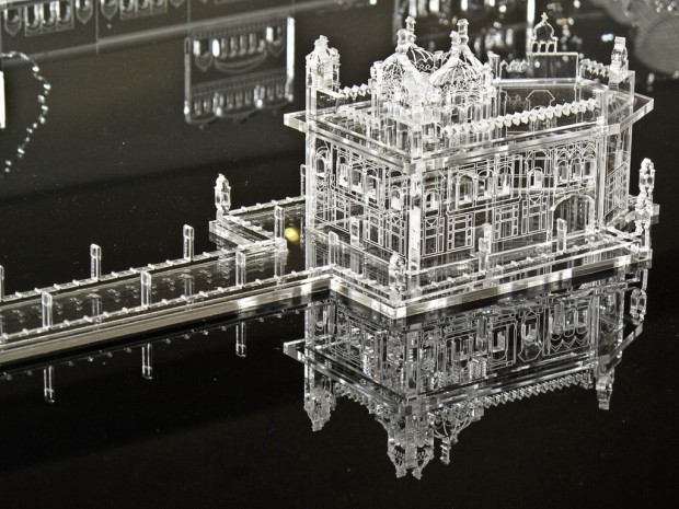 The centrepiece of the Golden Temple model