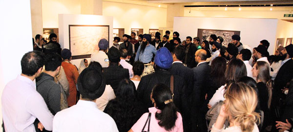 A guided tour at the Golden Temple exhibition