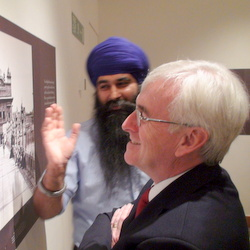 Parmjit Singh at the Golden Temple Exhibition