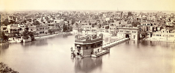 The Golden Temple of Amritsar in Black and White
