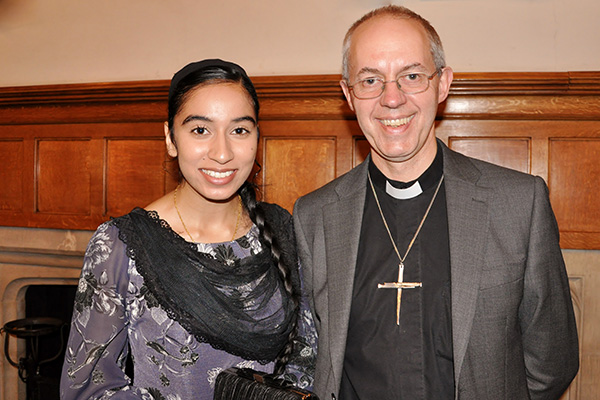 Archbishop of Canterbury Justin Welby & Amrit Kaur Lohia of UKPHA